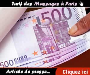 TARIFS DES MASSAGES A PARIS